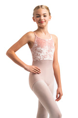 Girls Liberty Leotard with Crushed Velvet