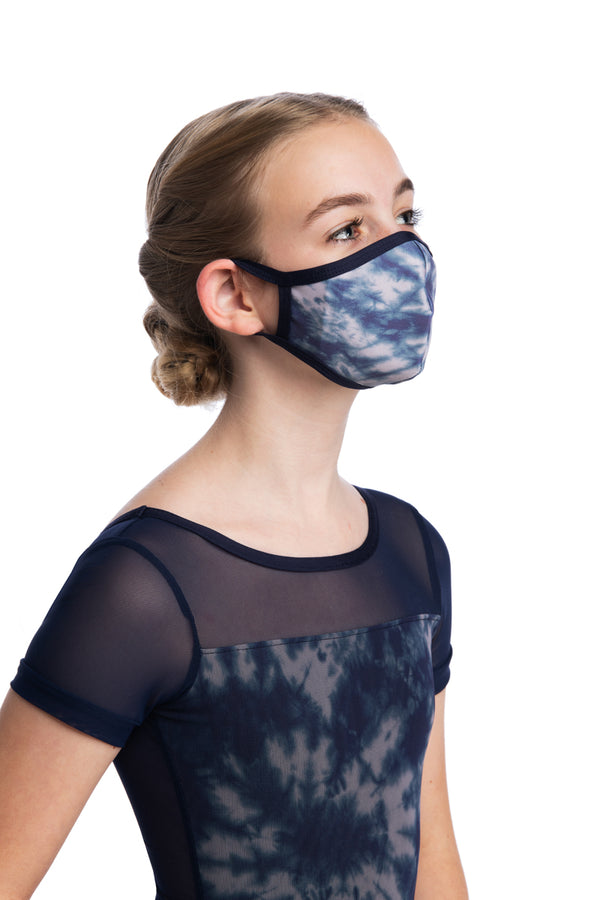 Girls Face Mask in Shibori Print (999SH G)