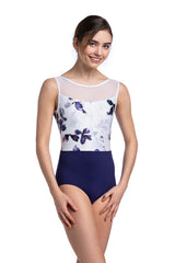 Camille Leotard with Frosted Petal Print
