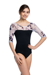 Sonia Leotard with Frosted Petal Print