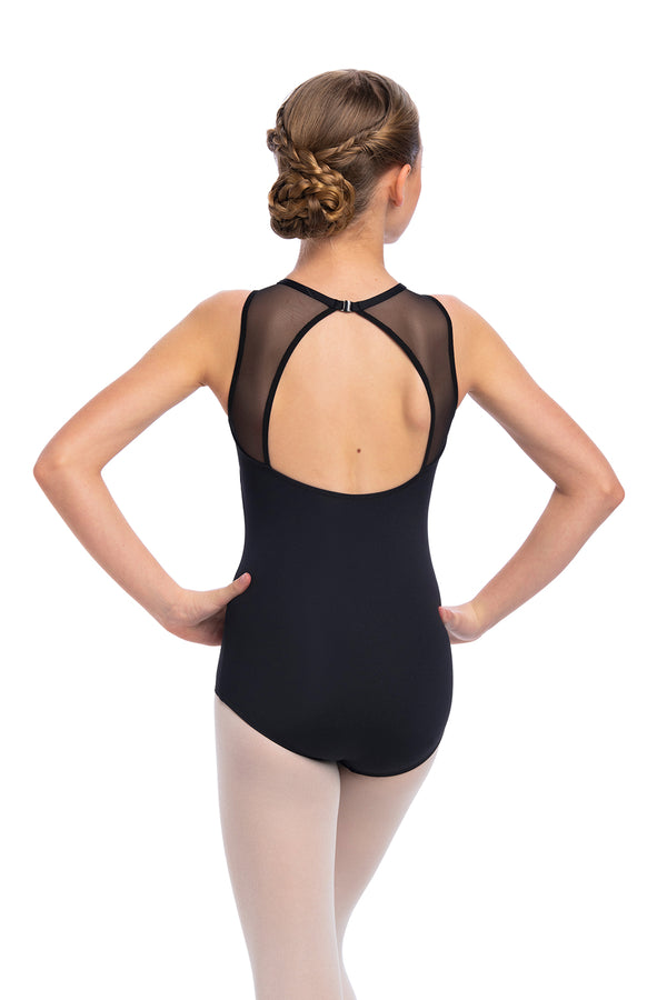 Girls Paige Leotard with Mesh