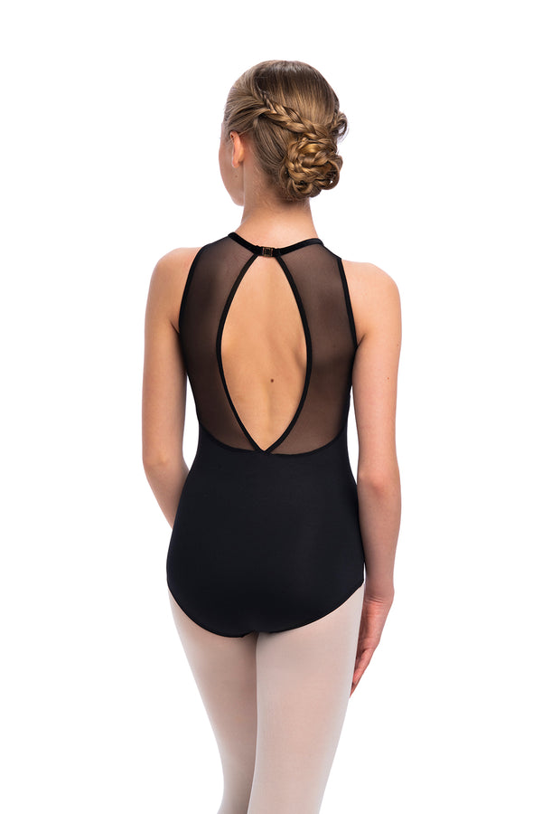 Girls Daphne Leotard with Grand Elegance Print