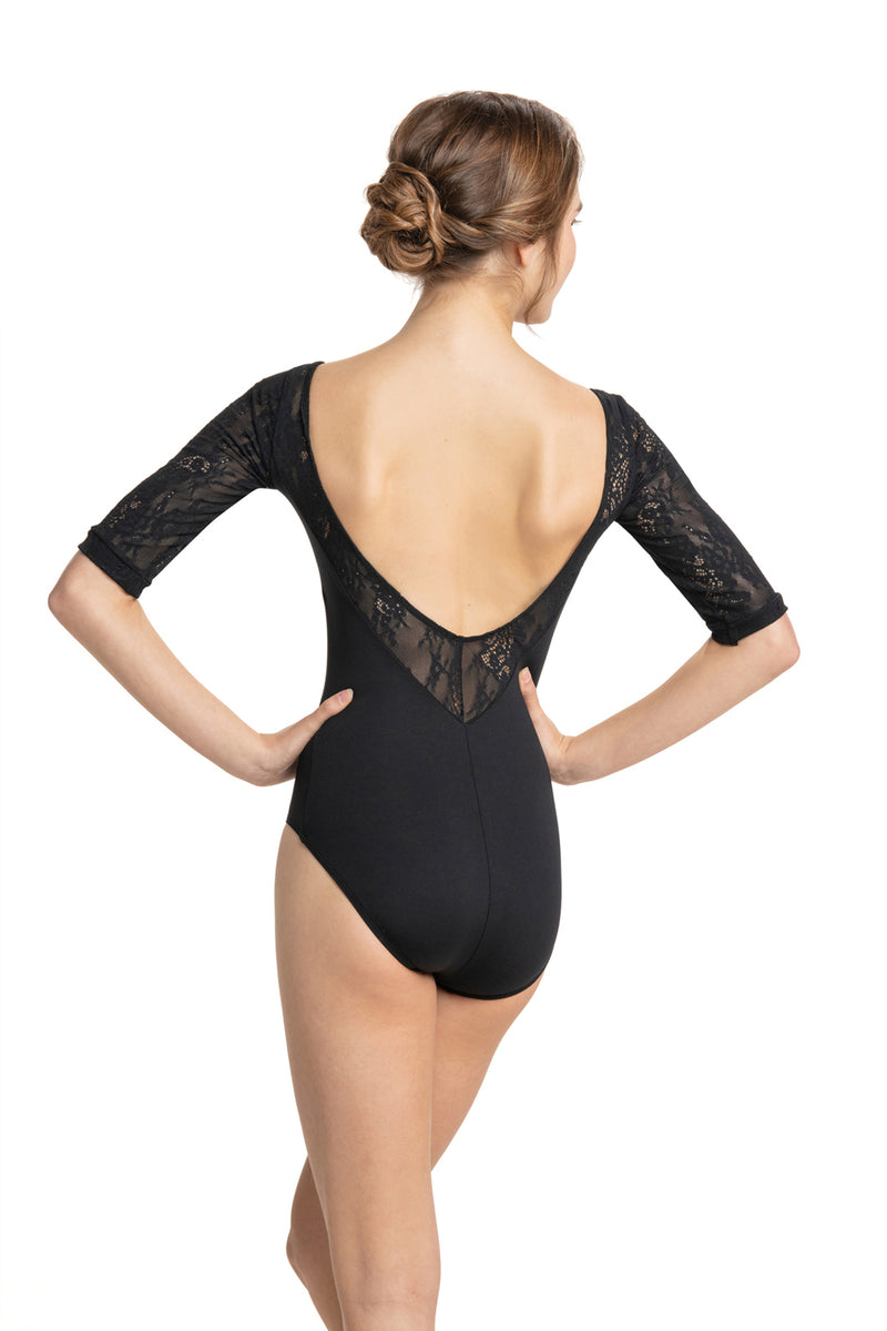 Celeste Leotard with Kara Lace
