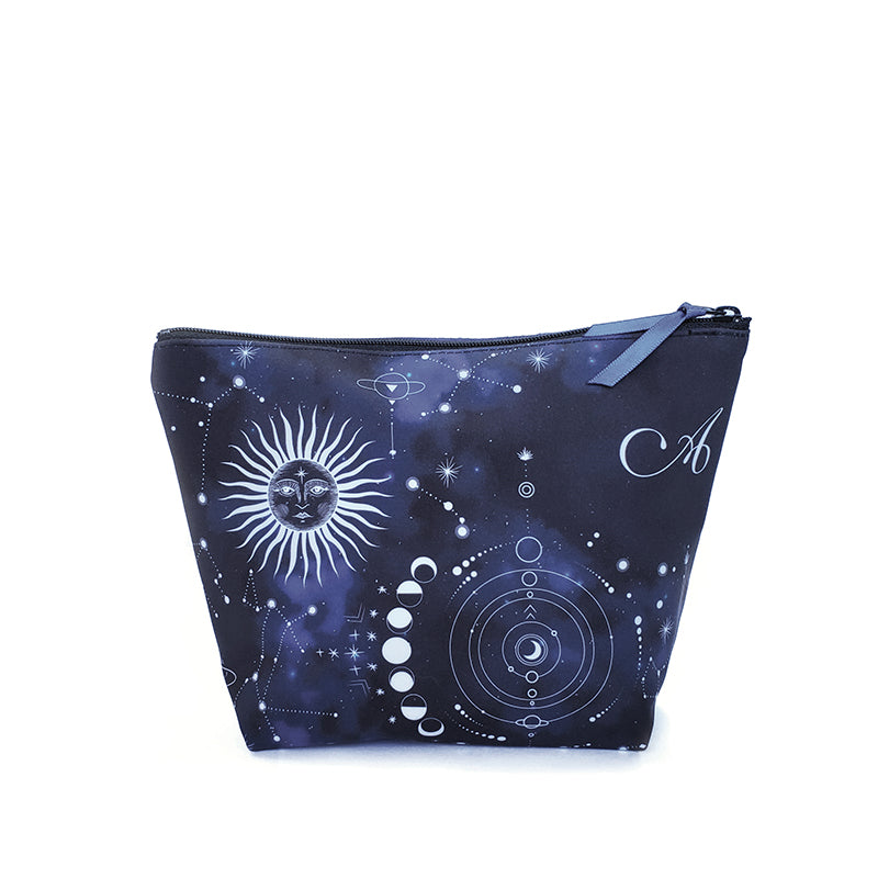 Makeup Bag with Night Sky Print