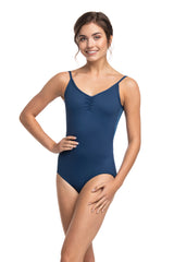 Allegra Pinch Leotard with Mesh