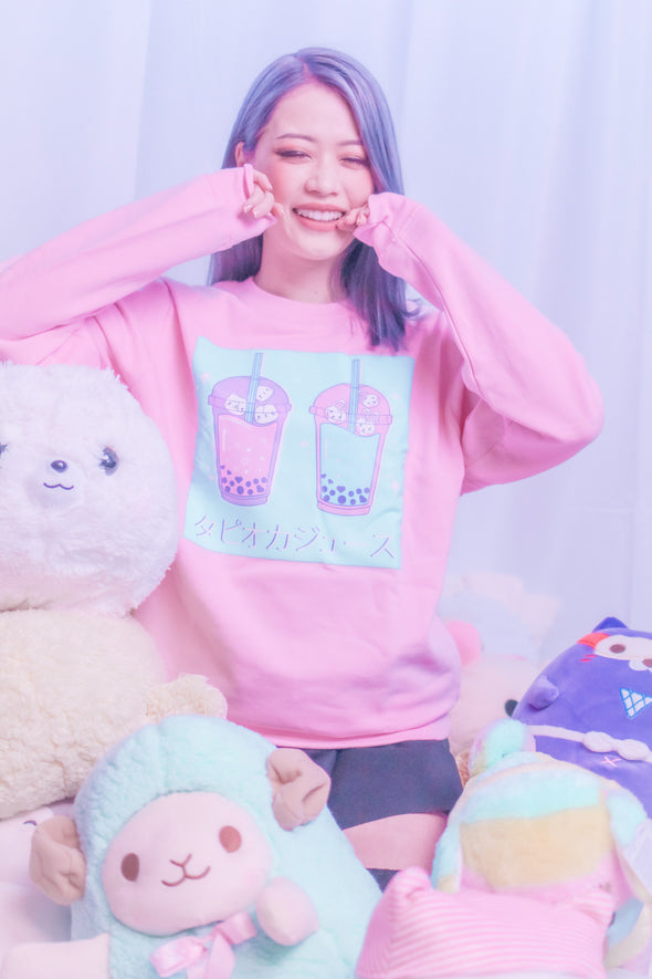 Kawaii Boba Tea Sweatshirt - Momokakkoii