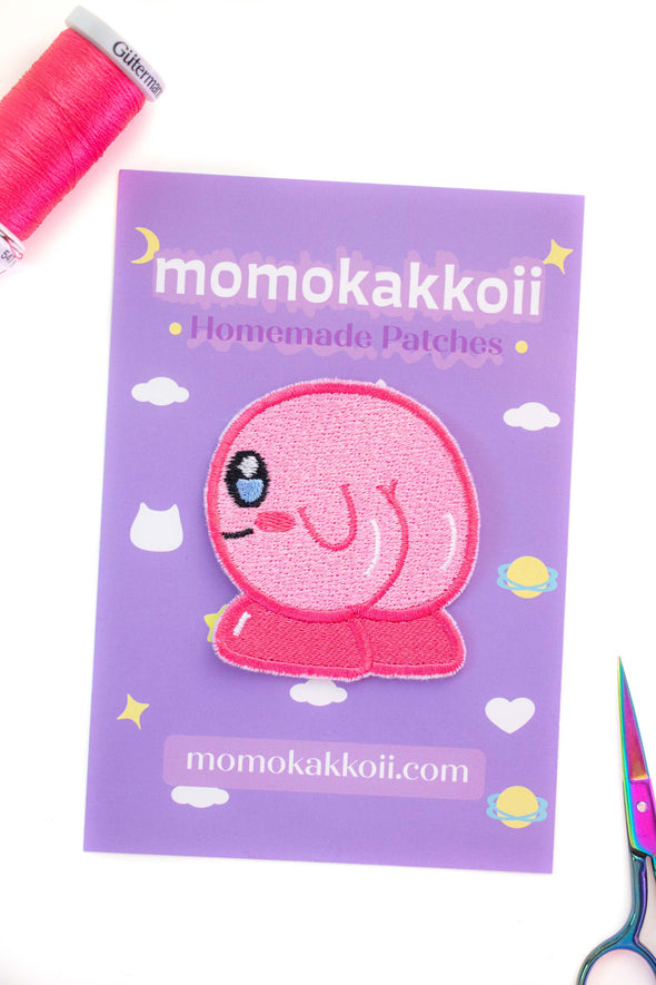 Funny Kirby Embroidered Patch - Momokakkoii