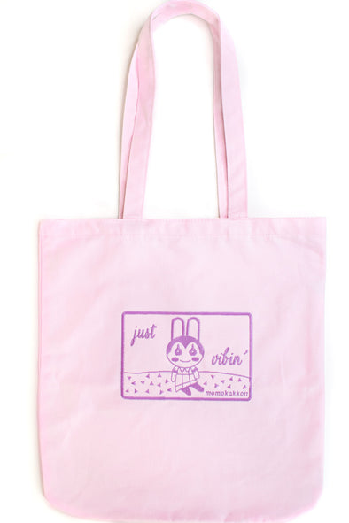 Organic Cotton Bunnie Tote Bag - Momokakkoii