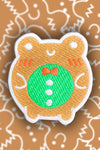 Gingerbread Froggy Embroidered Patch - Momokakkoii