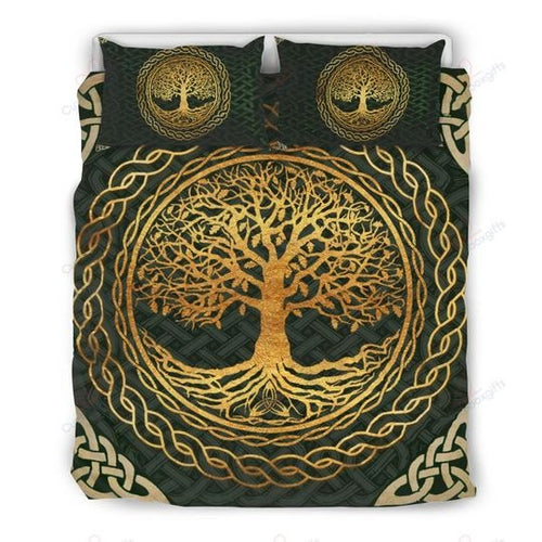 Golden Tree Of Life Bedding Set