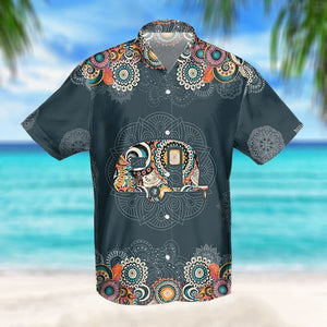 CAMPING MANDALA TROPICAL HAWAIIAN SHIRT