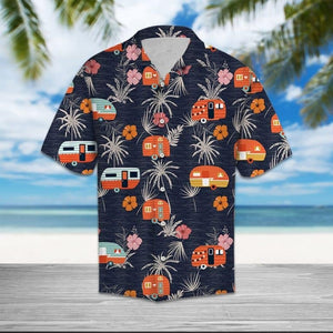 TROPICAL HAWAIIAN CAMPER SHIRT