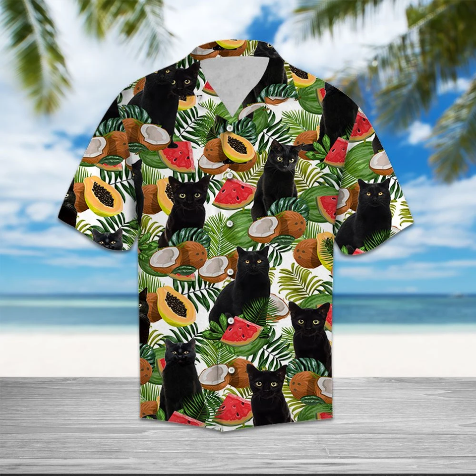 HAWAII BLACK CATTO SHIRT