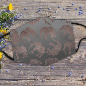 Stylish boho rose gold elephant