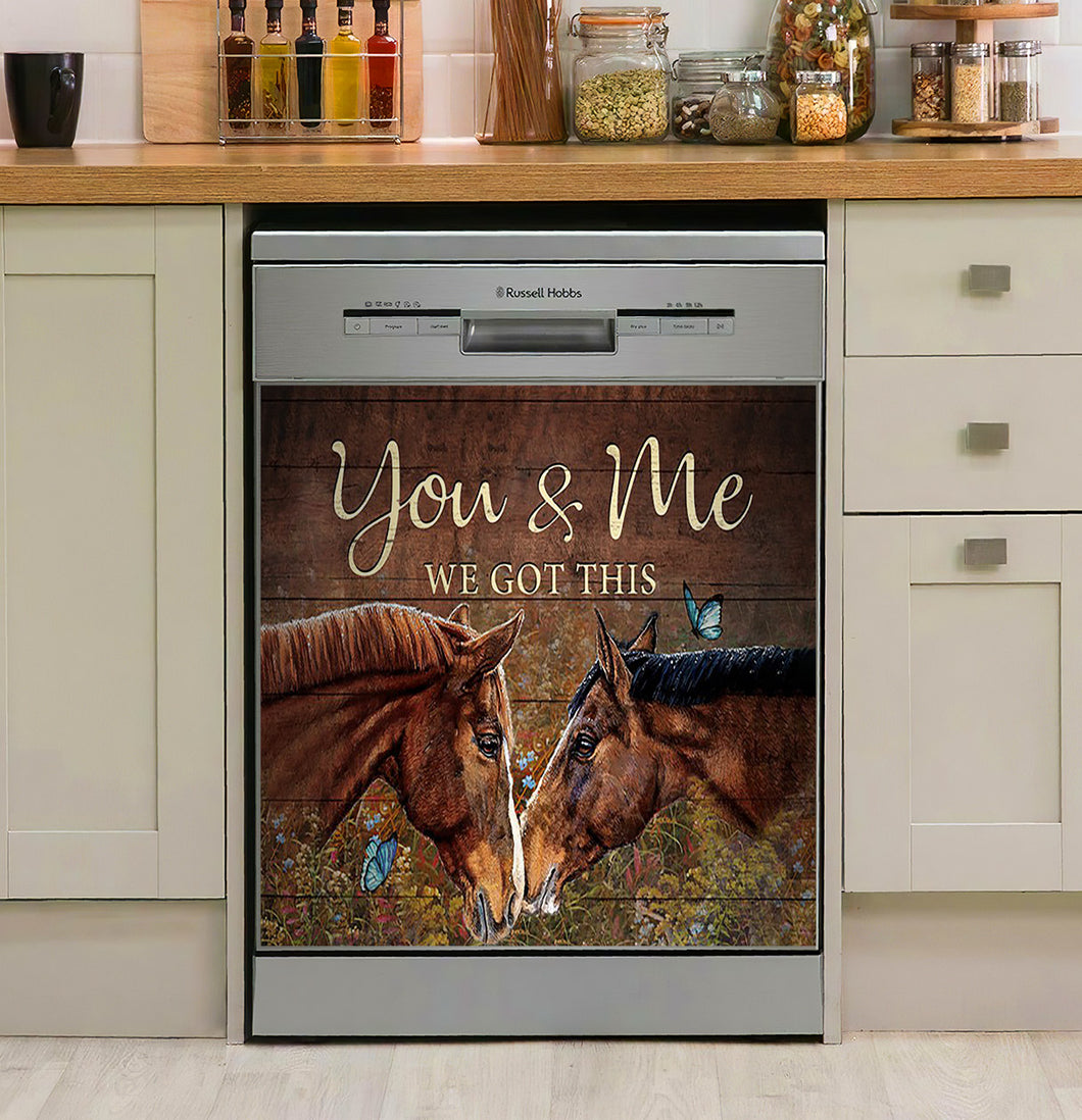 Horse - You  Me Decor Kitchen Dishwasher Cover