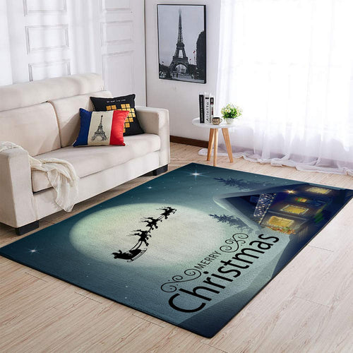 CHRISTMAS RUG MERRRY CHRISTMAS CHRISTMAS NIGHT AREA RUG FULL SIZE