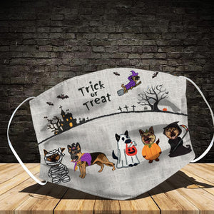 German Shepherd Trick Or Treat Halloween Face Mask