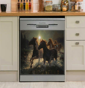 Rivers Edge Products Horses In Water Decor Kitchen Dishwasher Cover