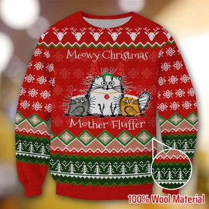 CAT MEOWY CHRISTMAS MOTHER FLUFFER VO01 SWEATER