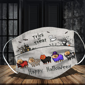 Pomeranian Halloween Face Mask and Tote Bag