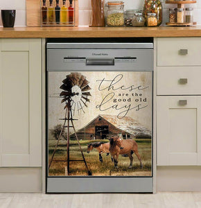 Horses And Barn These Are The Good Old Days Decor Kitchen Dishwasher Cover