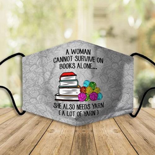 BOOK A WOMAN CANNOT SURVIVE ON BOOKS ALONE XC03 FM FM