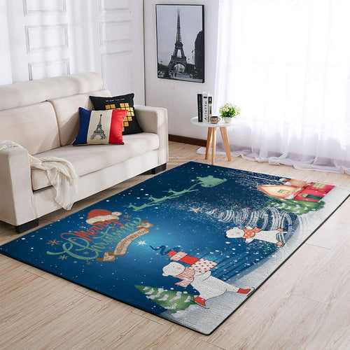 CHRISTMAS RUG MERRY CHRISTMAS AND HAPPY NEW YEAR RUG FULL SIZE