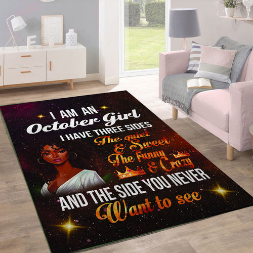 Black Girl October And Red Sparrow Rug