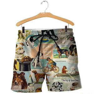3D All Over Printed Dog Short