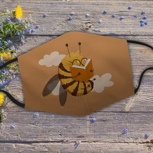 Sweet bumblebee reads book