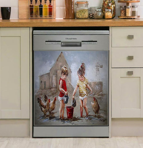 Nog Nie Vol Decor Kitchen Dishwasher Cover