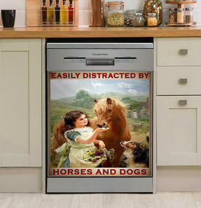 Horses And Dogs Dishwasher Cover