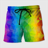 Polygon Pattern Beach short