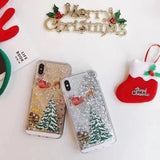 Christmas Quicksand Phone Case