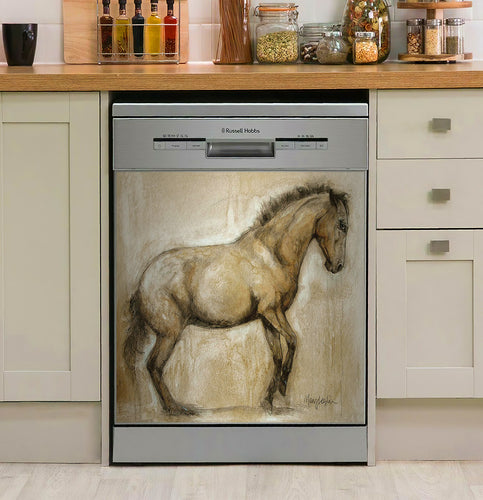 Lock And Load Horse Decor Kitchen Dishwasher Cover