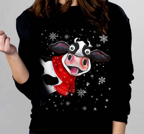 Cow Christmas T- Shirt 2
