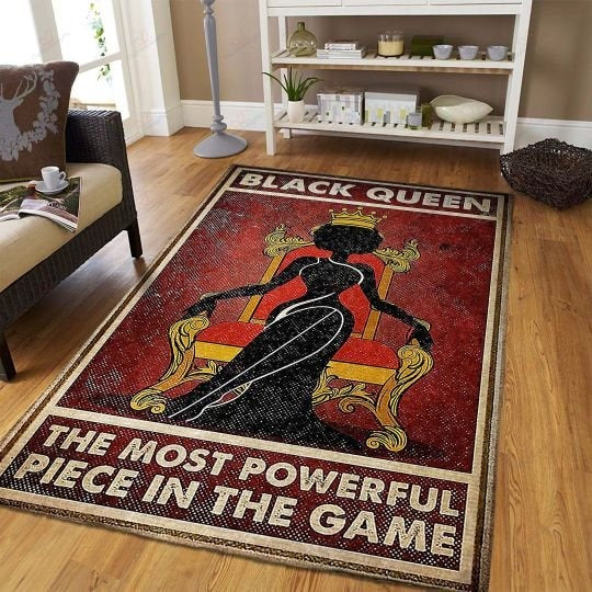 Black Queen In The Game Rug