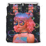 Black Girl Universe Bedding Set