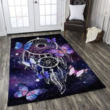 Dreamcatcher Butterflies Galaxy Rug