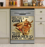 Horses Once Upton A Time Decor Kitchen Dishwasher Cover