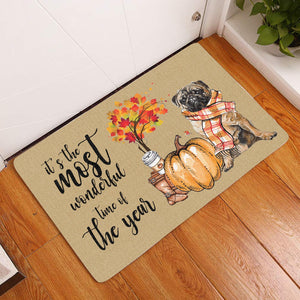 It's The Most Wonderful Time Of The Year Pug Doormat