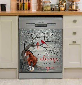 Horse I Am Always Decor Kitchen Dishwasher Cover