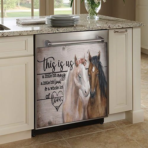 This Is Us - Horse Decor Kitchen Dishwasher Cover
