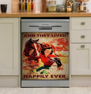 Horse Happily Ever Decor Kitchen Dishwasher Cover