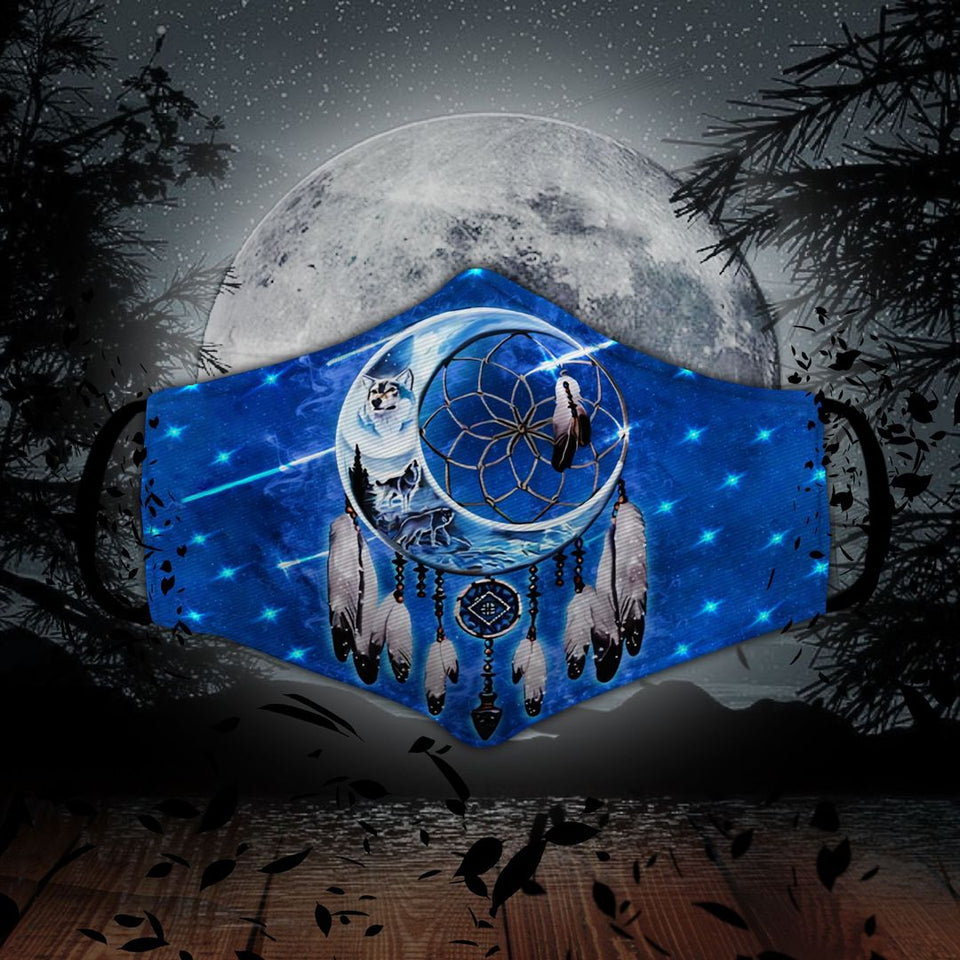 NATIVE AMERICAN SHOOTING STARS AND DREAMCATCHER WOLF MN57