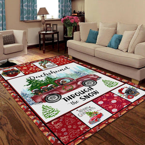Dachshund Christmas Rug MP-TR141002