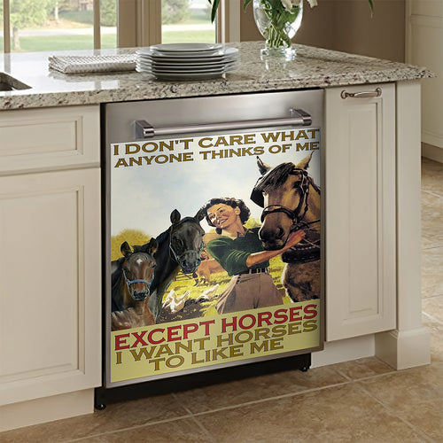 I Don_t Care Except Horses Decor Kitchen Dishwasher Cover