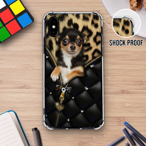 Chihuahua Leopard Zip Phonecase