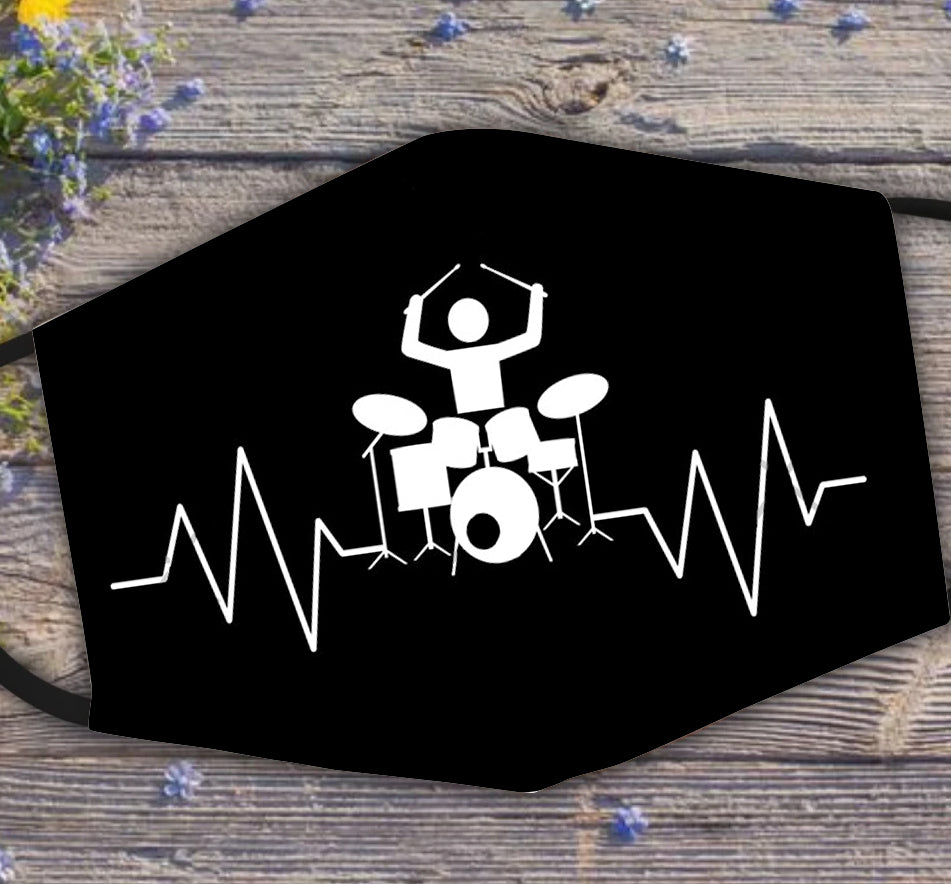 Drummer Heartbeat Pulse Line Percussion