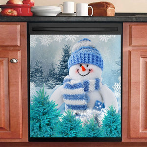 Snowman Decor Kitchen Dishwasher Cover